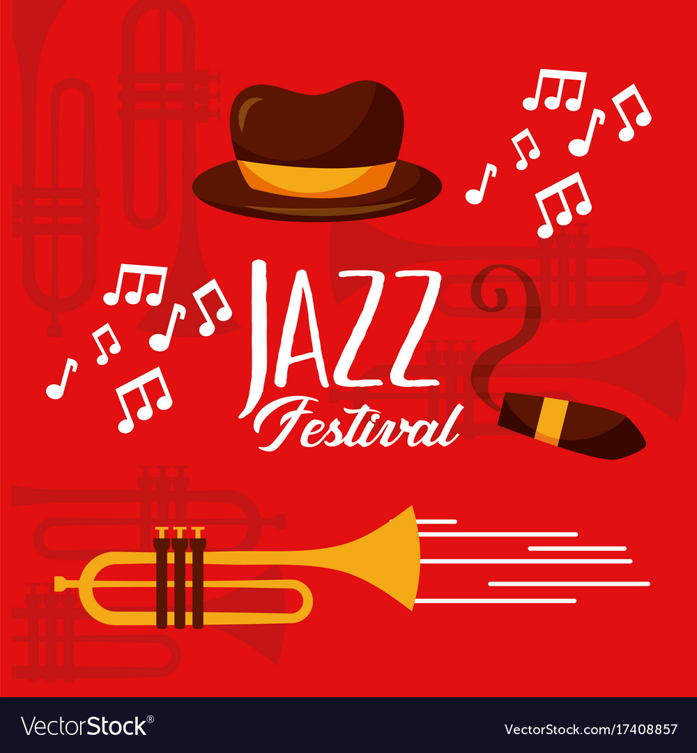 Jazz festival poster music event invitation vector image stopboris Images