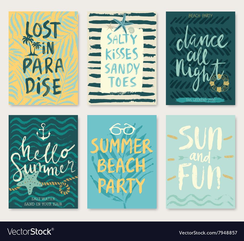 Summer flyers vector image