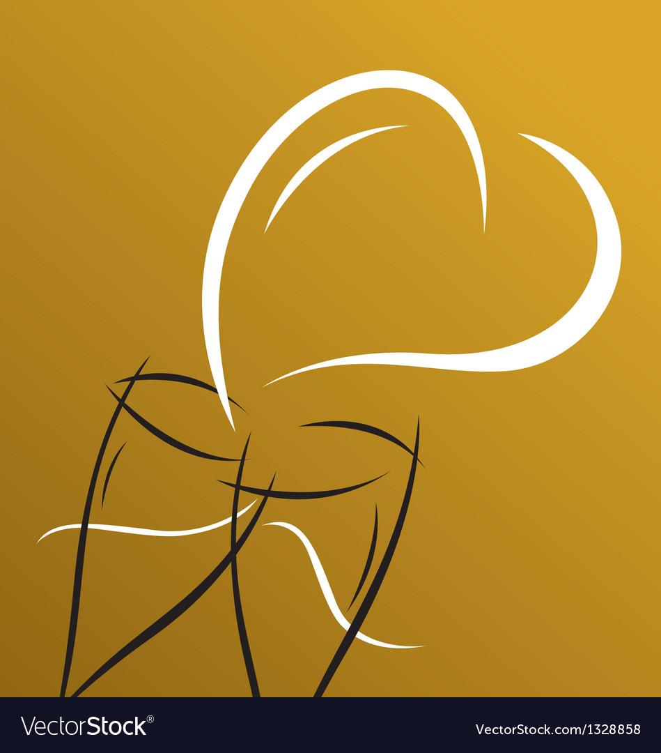 Champagne Glasses Design vector image