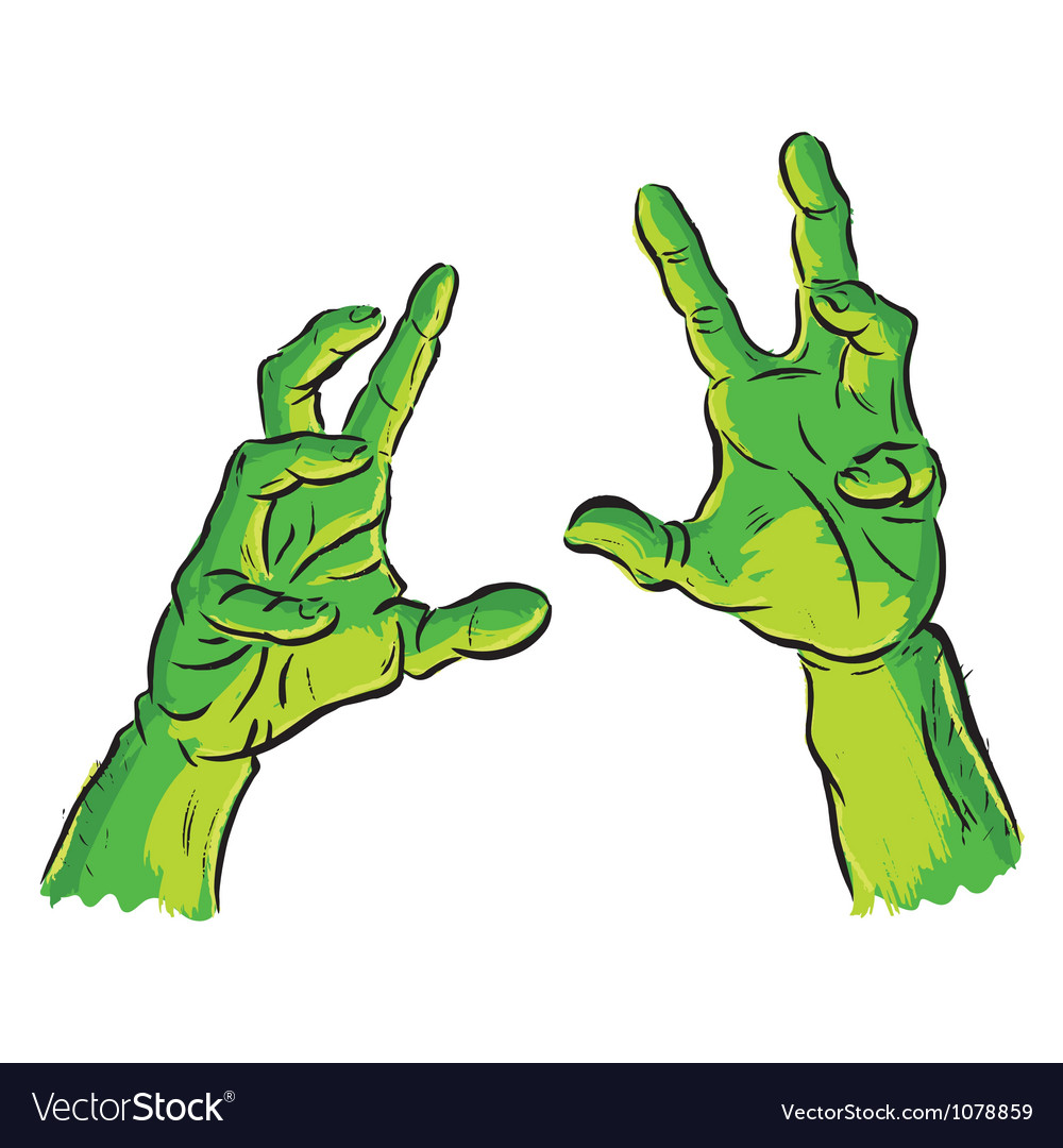 Spooky hands vector image
