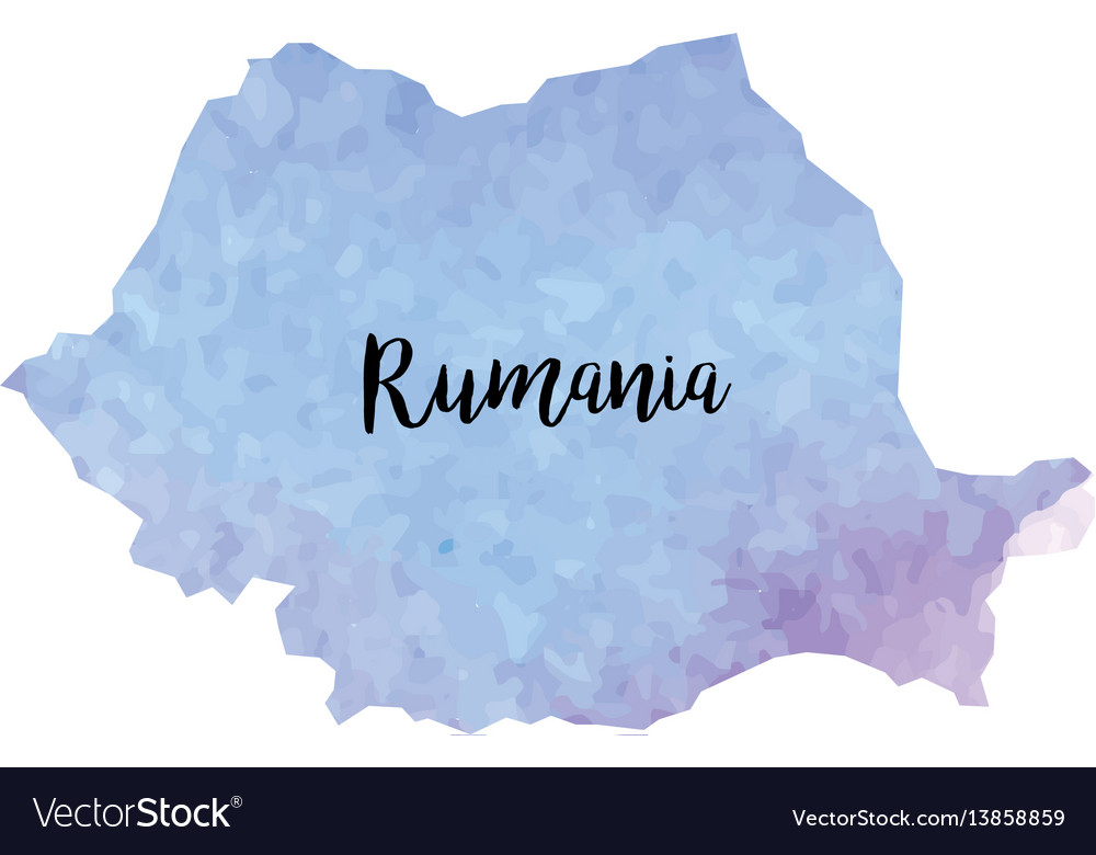 Abstract rumania map vector image