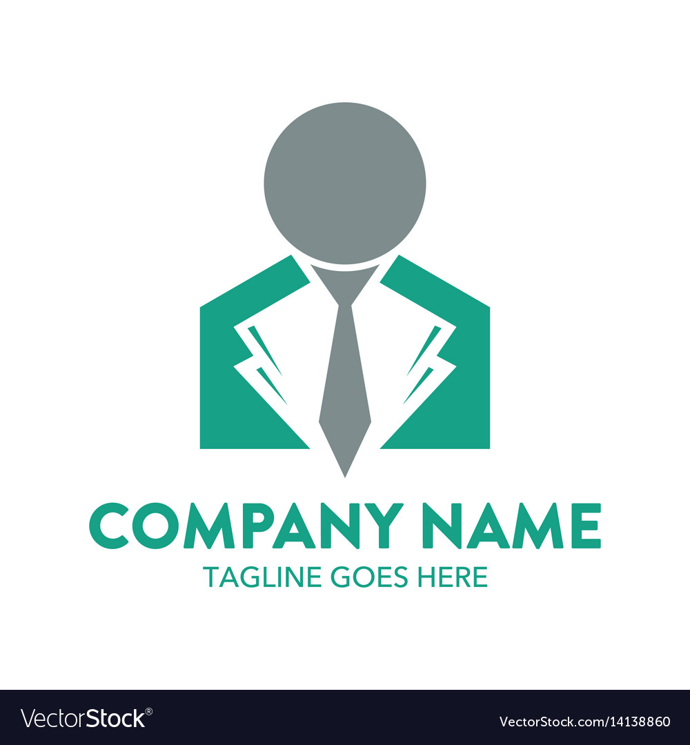 Businessman logo-8 vector image