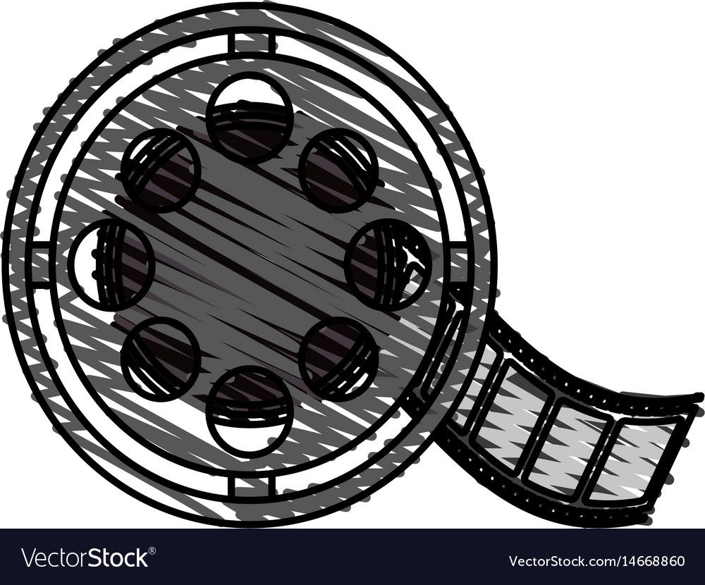 Color crayon stripe image cartoon film roll reel vector image