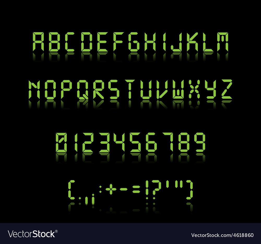 Digi font vector image