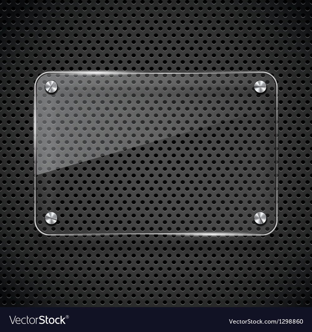 Metal texture with glass framework vector image