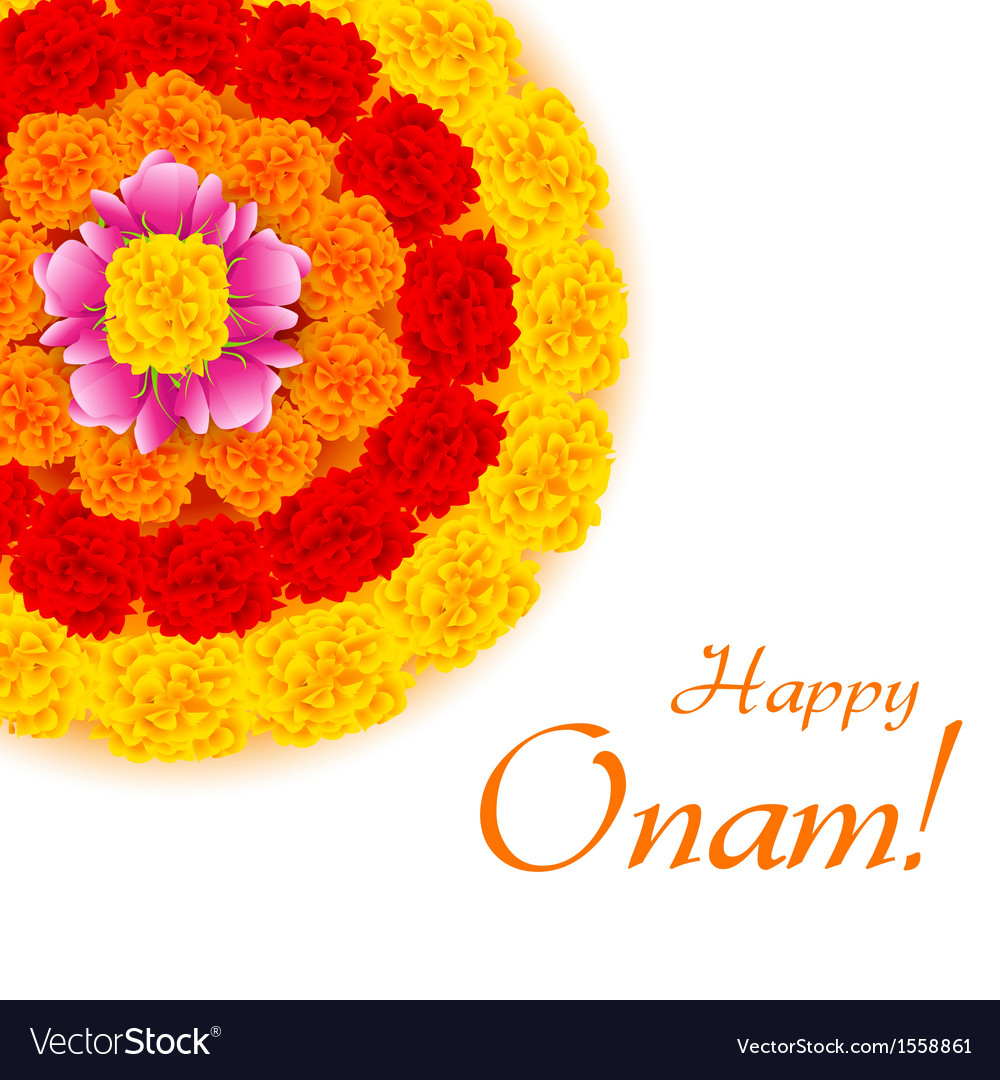 Flower Rangoli for Onam vector image
