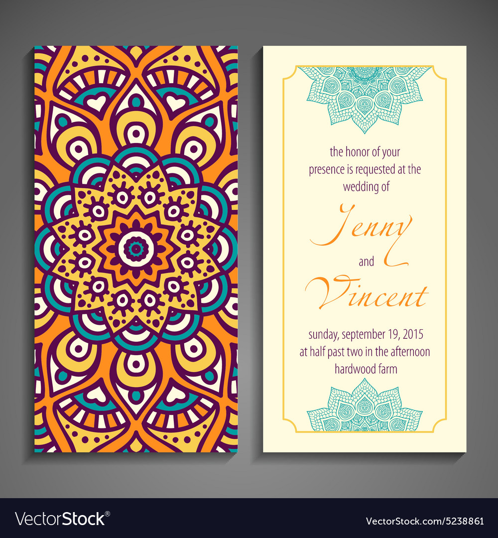 Elegant Indian ornamentation on a dark background vector image