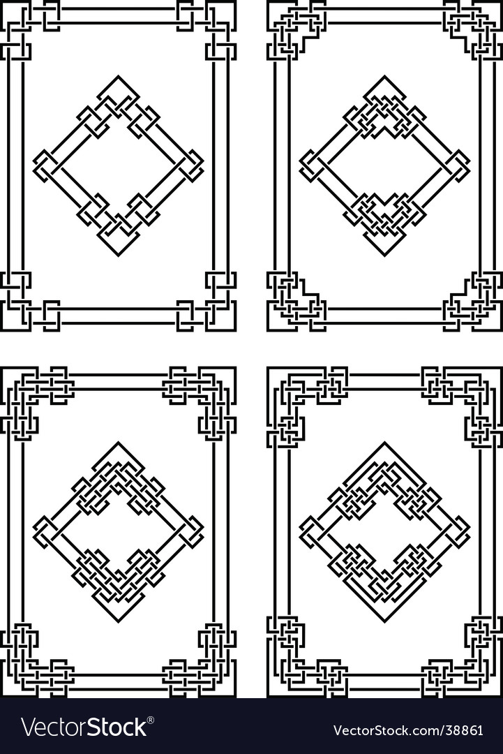Geometrical borders vector image