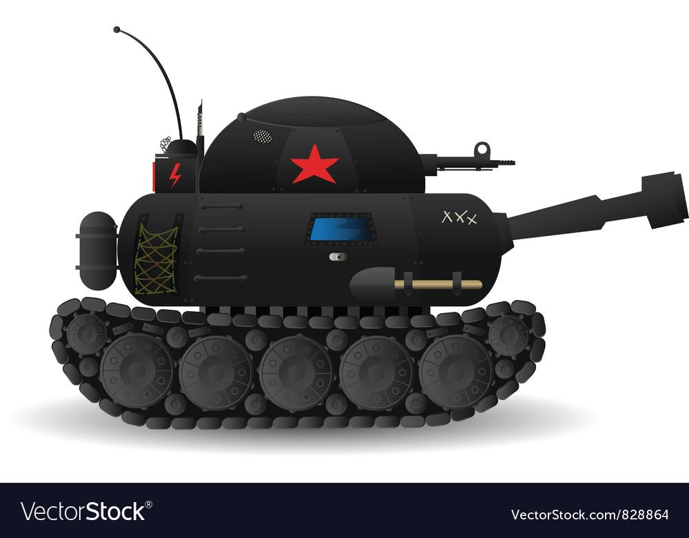 Cartoon tank Vector Image