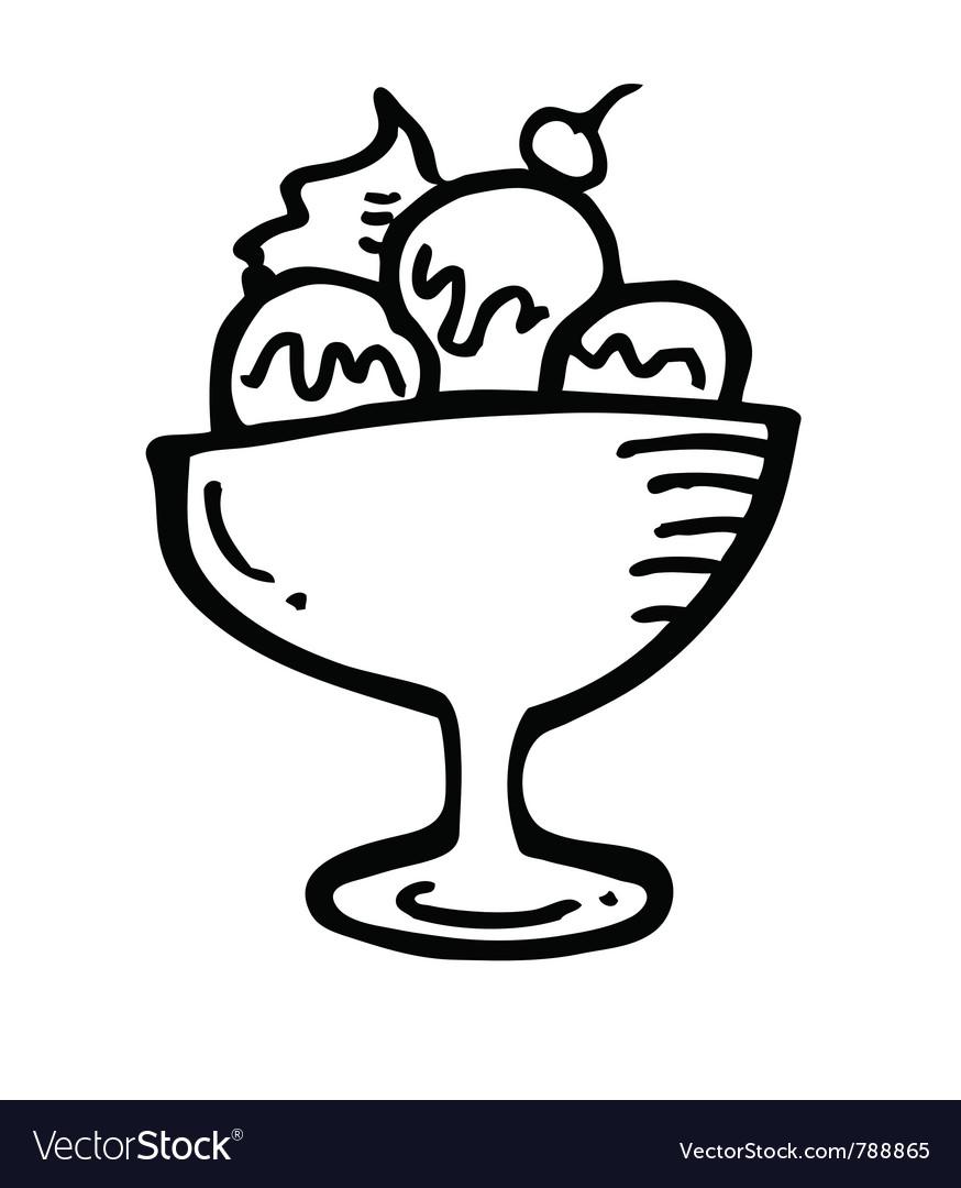 Ice cream vector image