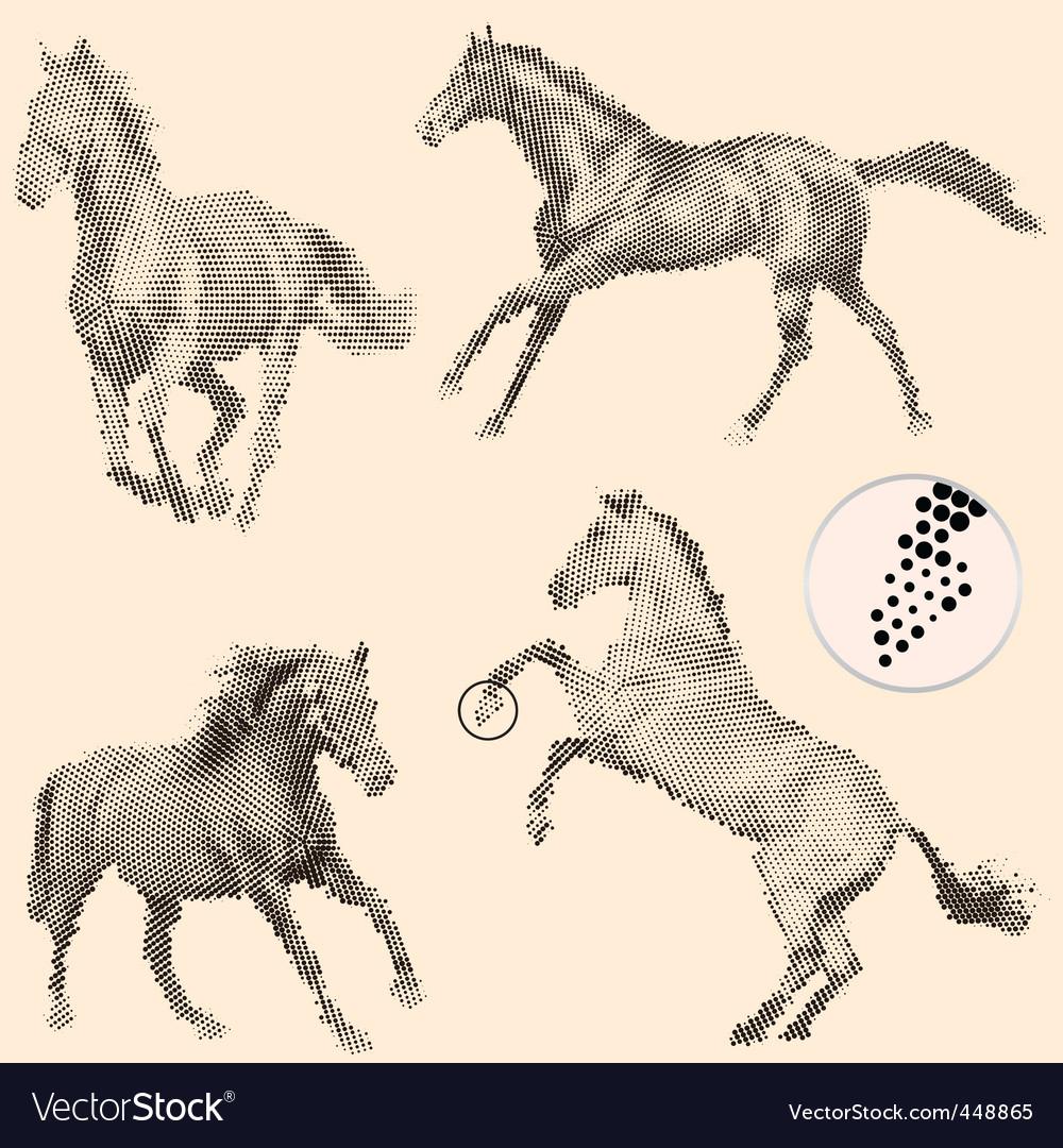 Running horses vector image