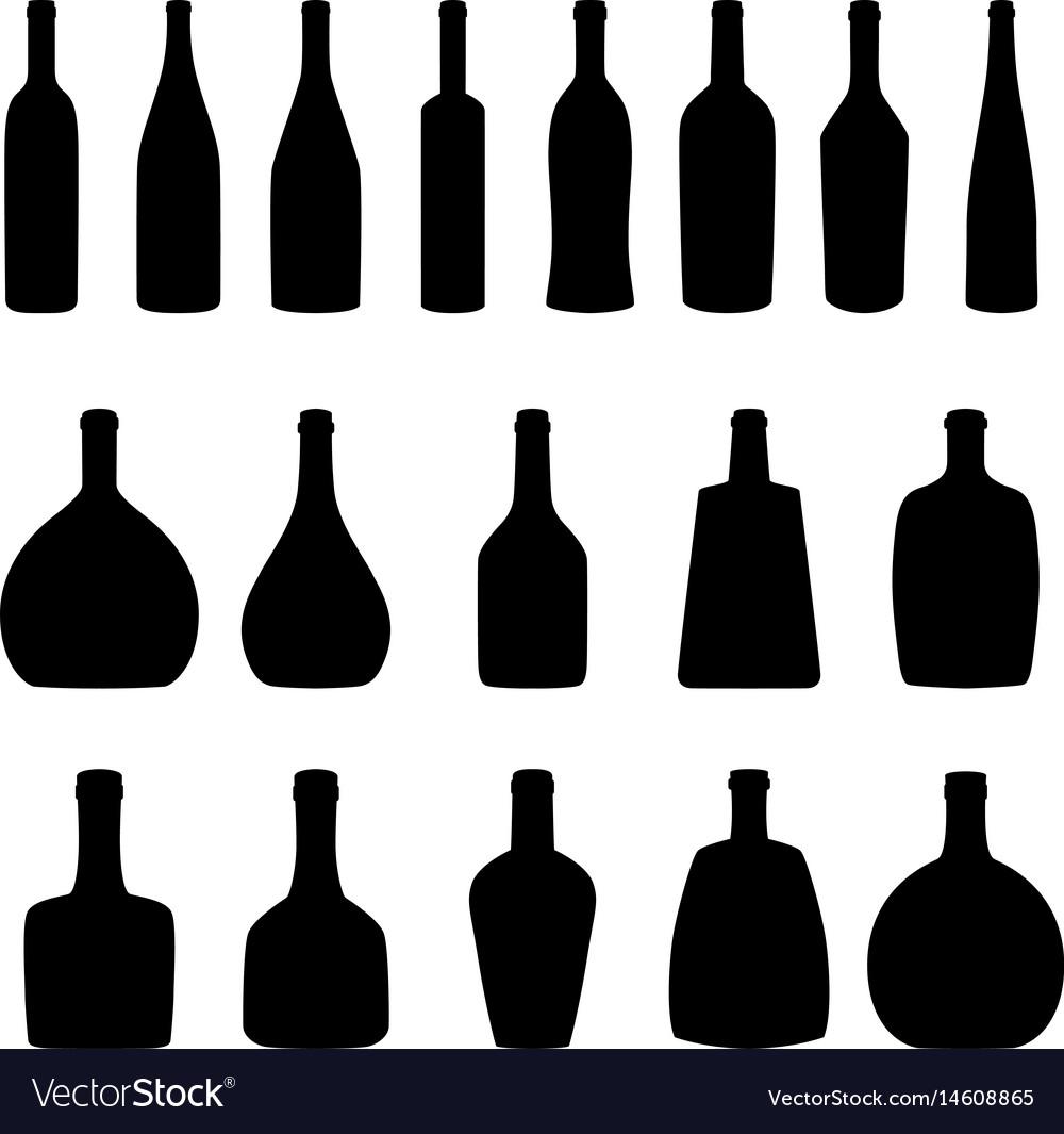 Set of bottles vector image