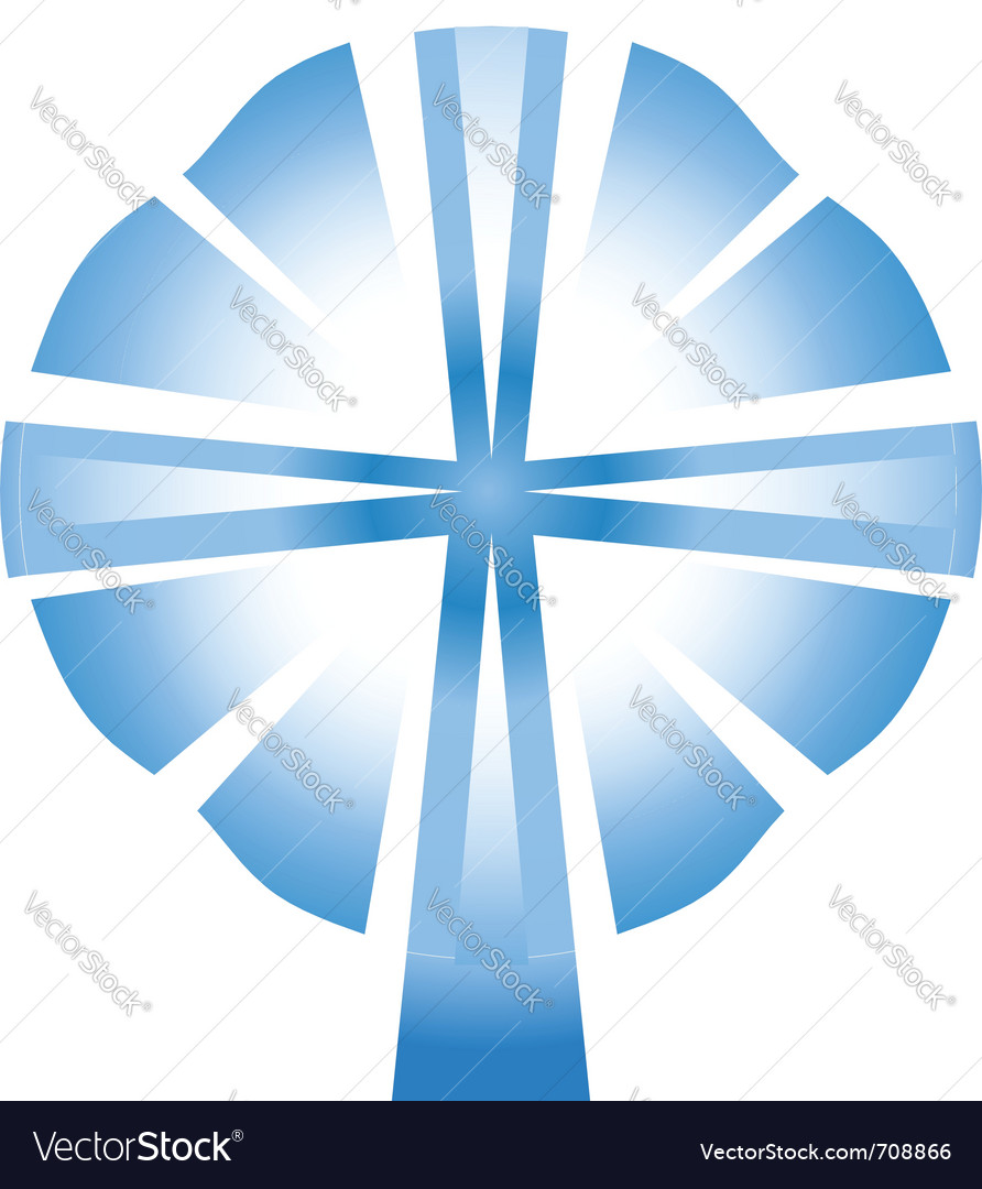 Cross spirit vector image
