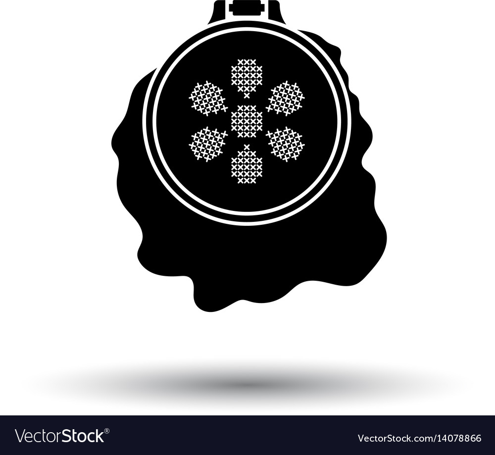 Sewing hoop icon vector image