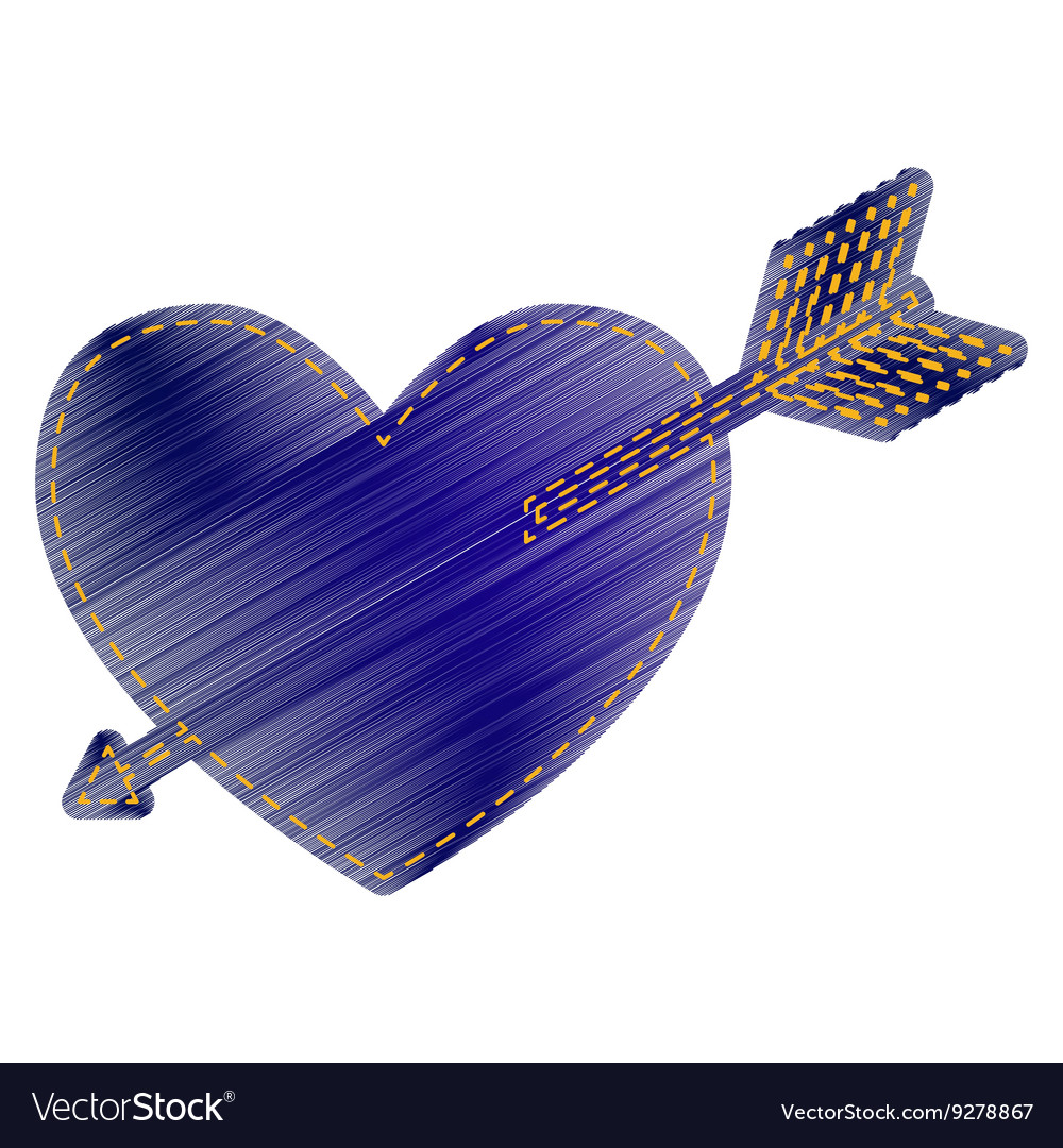 Arrow heart sign vector image