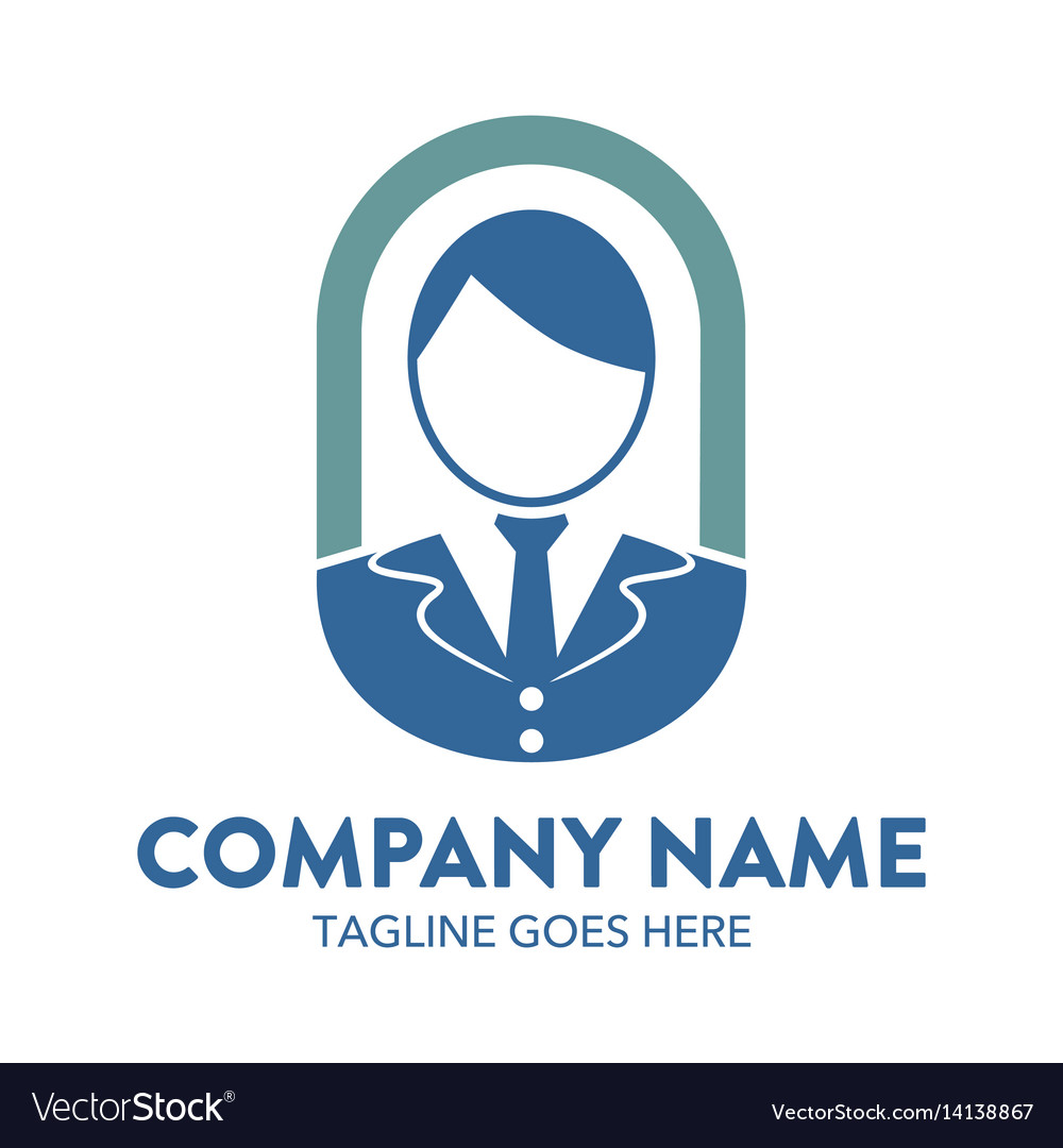 Businessman logo-10 vector image