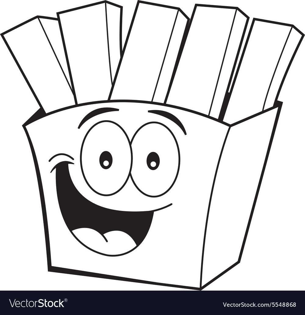 Cartoon french fries vector image