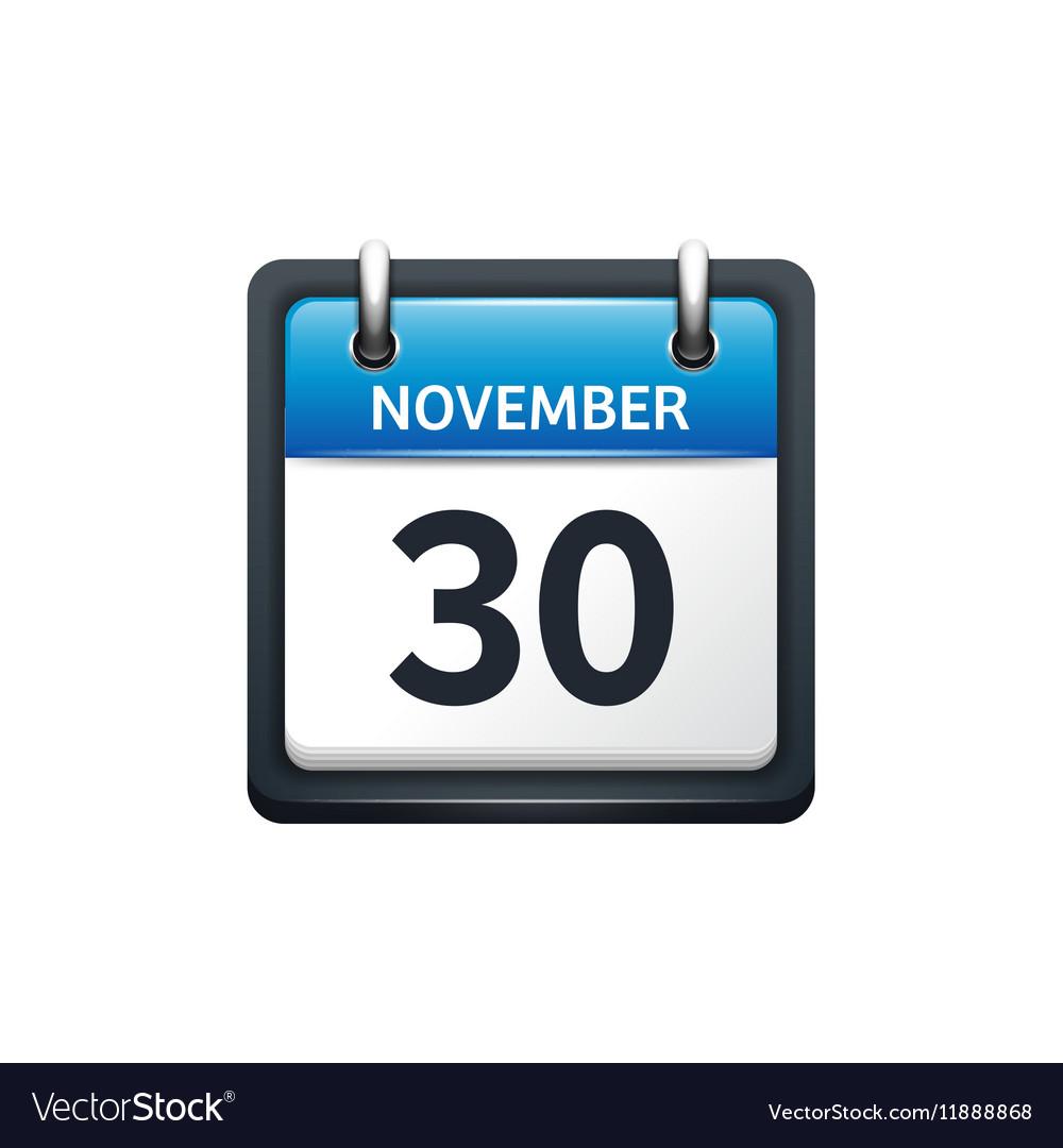 November 30 Golden Sign On Silver Stock Illustration 133568897 ...