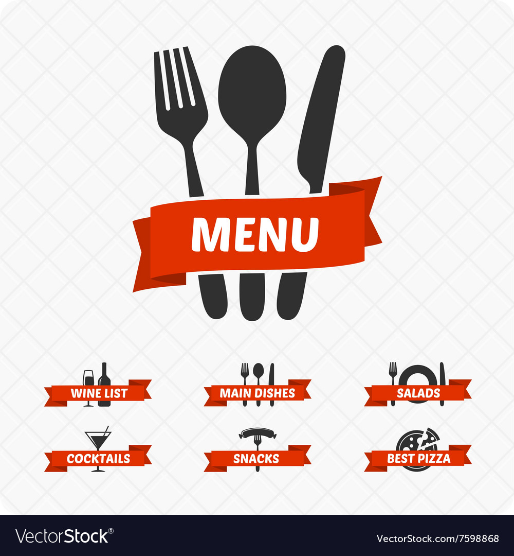 Set of restaurant signs symbols logo royalty free vector set of restaurant signs symbols logo vector image buycottarizona Image collections