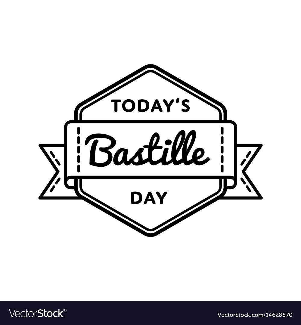 Today bastille day greeting emblem royalty free vector image today bastille day greeting emblem vector image m4hsunfo