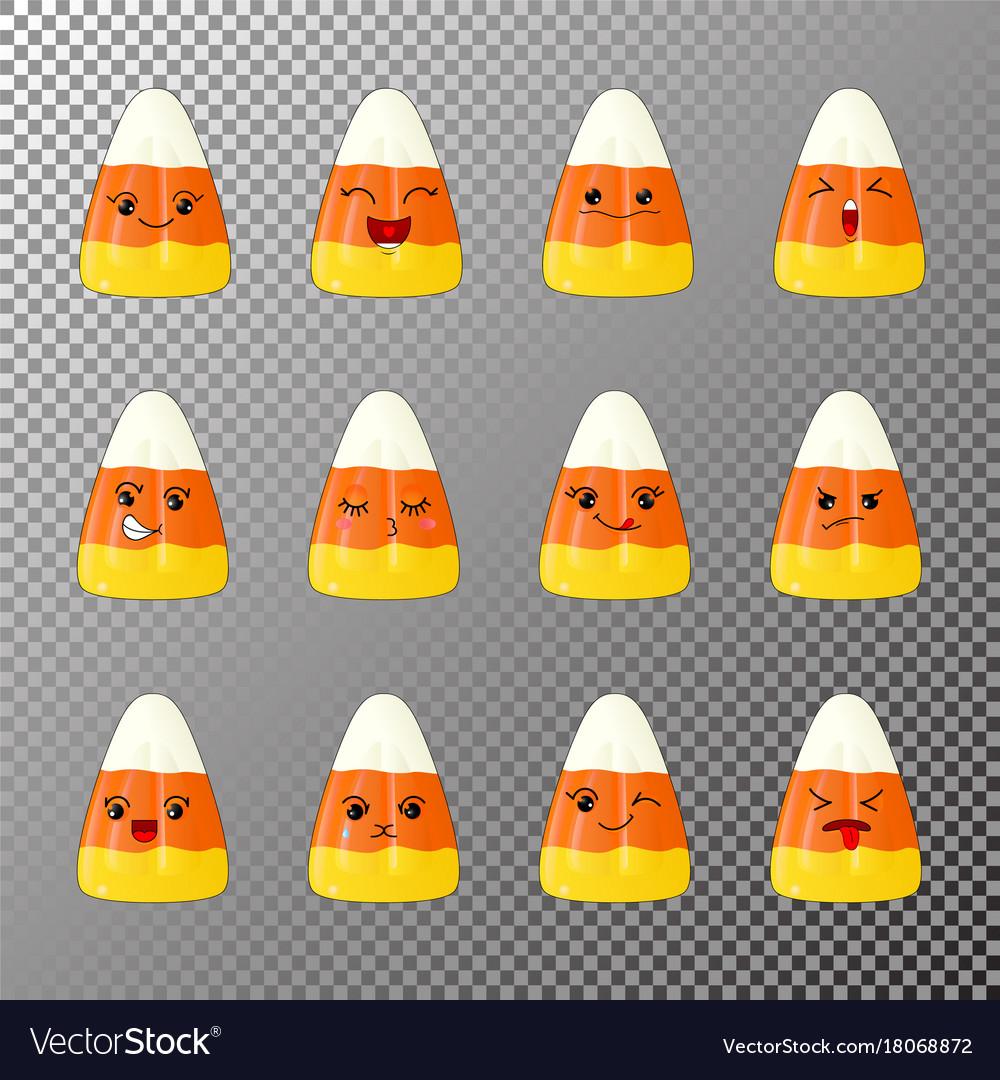 Emoji of corn candy vector image