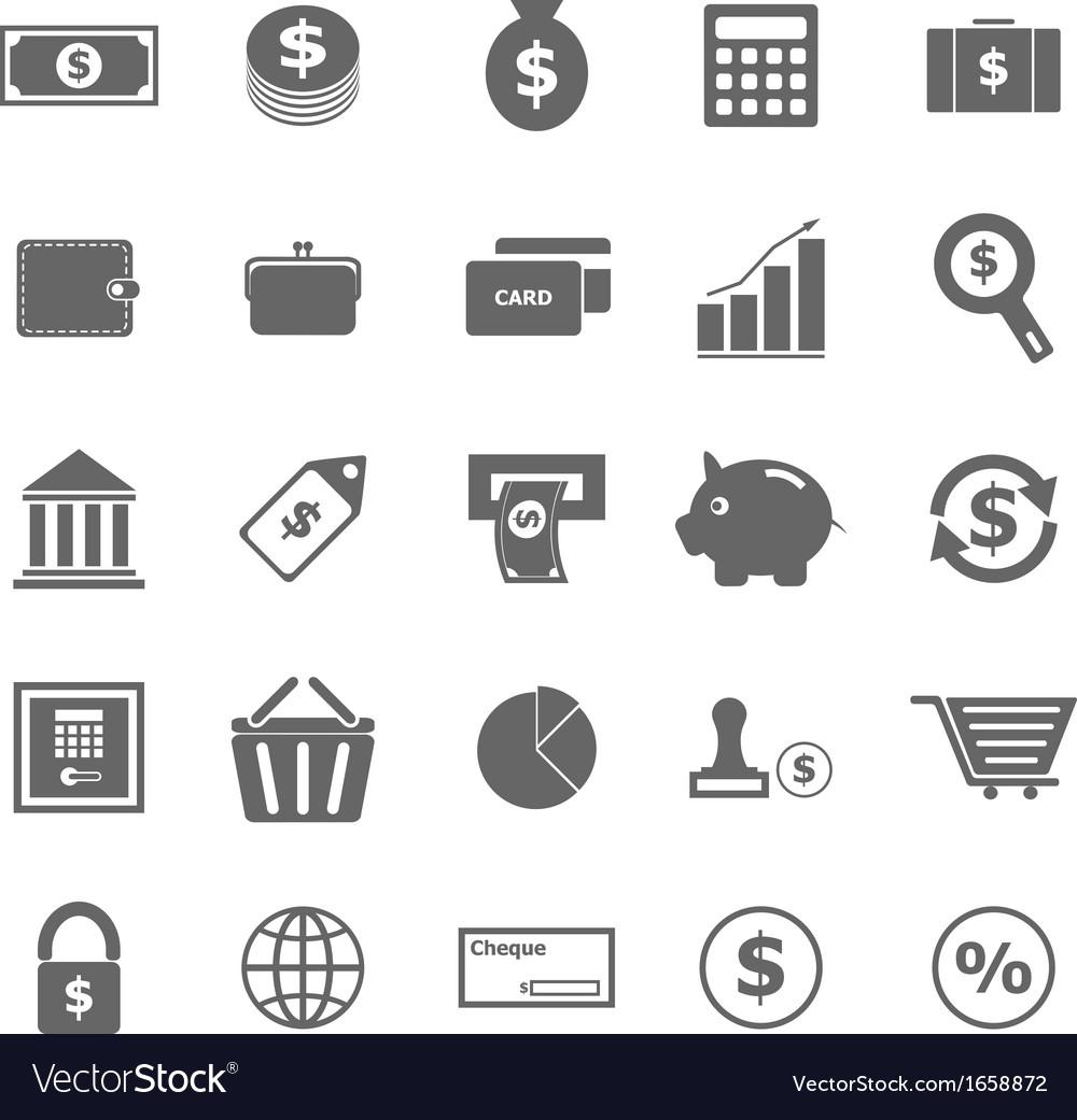 Money icons on white background vector image