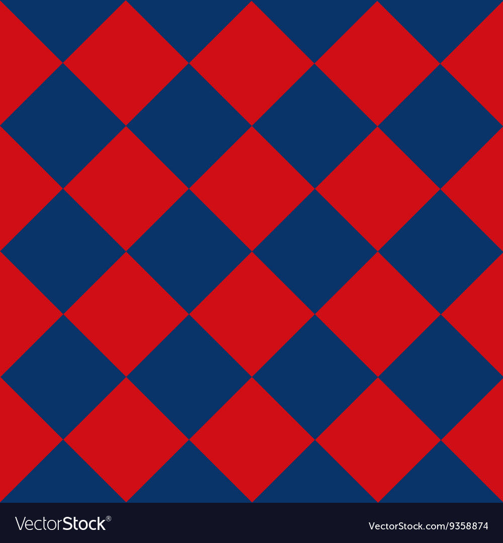 Blue Red Chess Board Diamond Background vector image