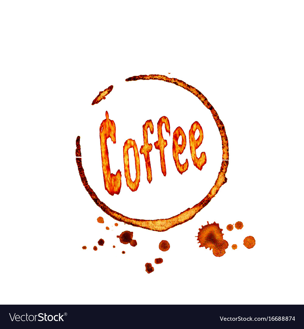 Coffee icon with lettering vector image