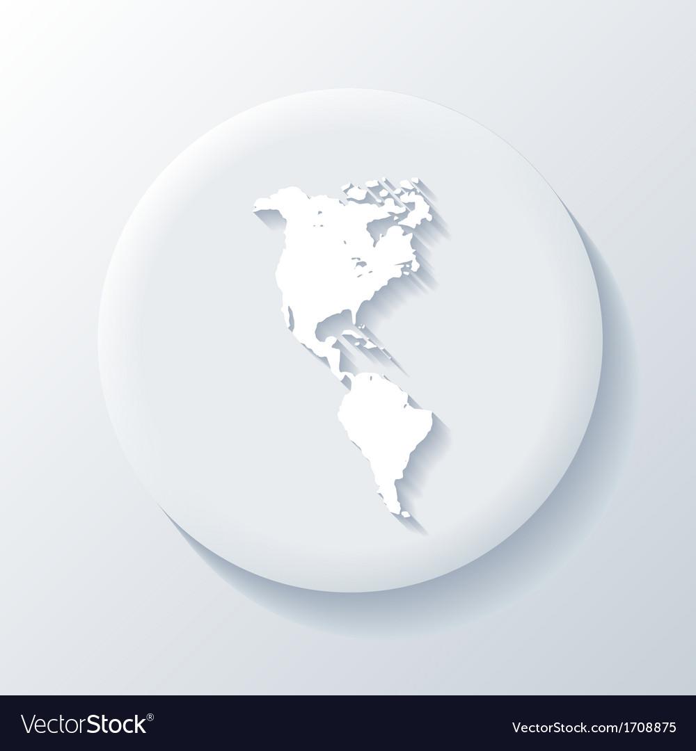 America 3D Paper Icon vector image