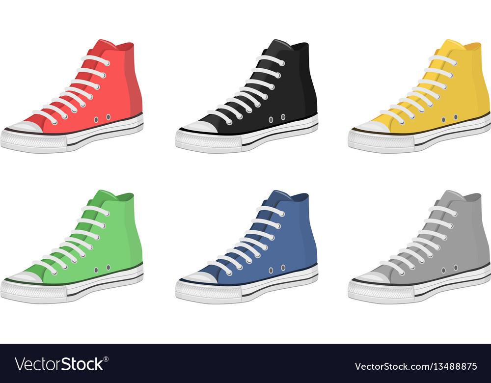 Mens shoes keds vector image