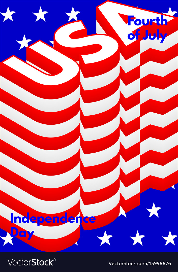 Fourth of july usa independence day modern poster vector image