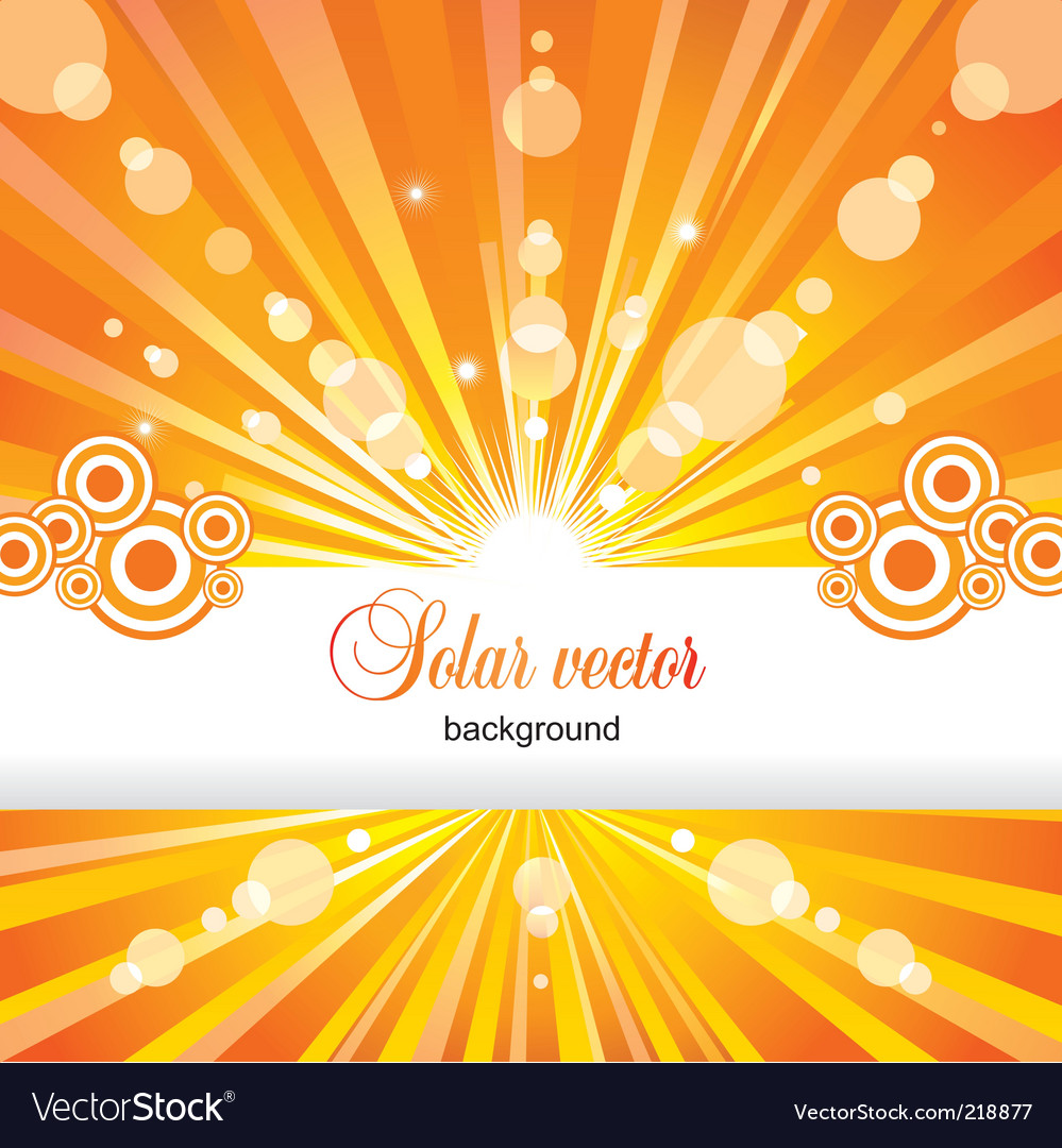 Solar background Vector Image