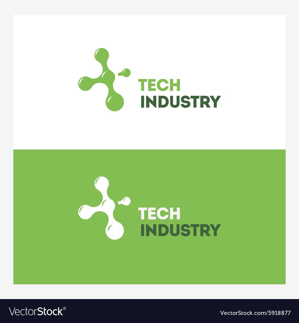 Abstract Technology logo design template vector image