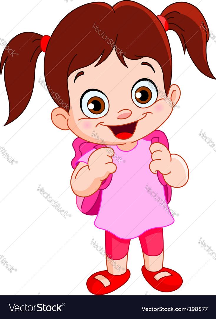 Schoolgirl vector image