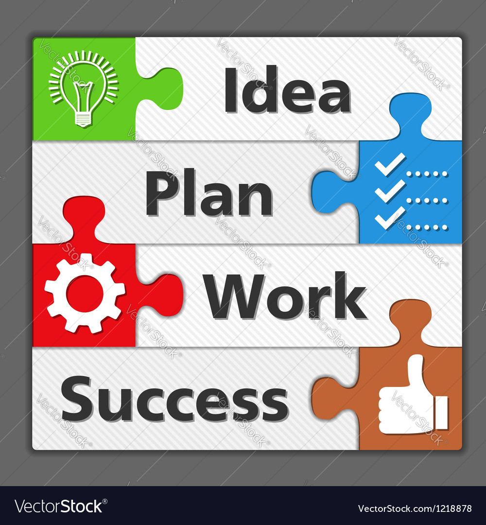 Diagram of Success Vector Image