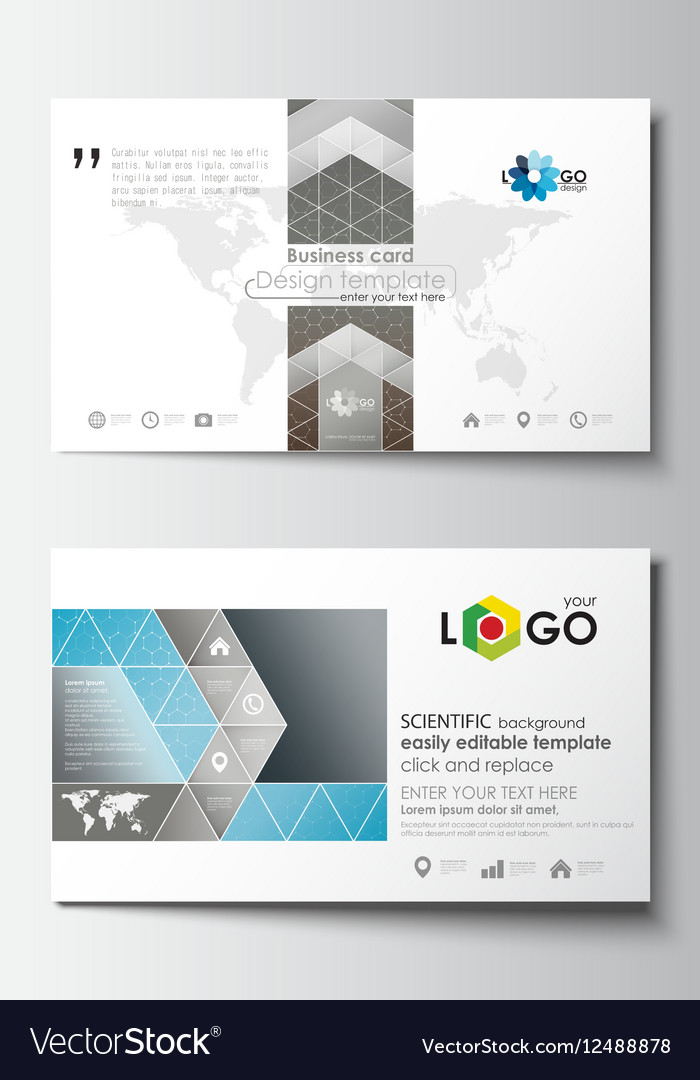 Business Card Templates Cover Template Easy Vector Image - Easy business card template