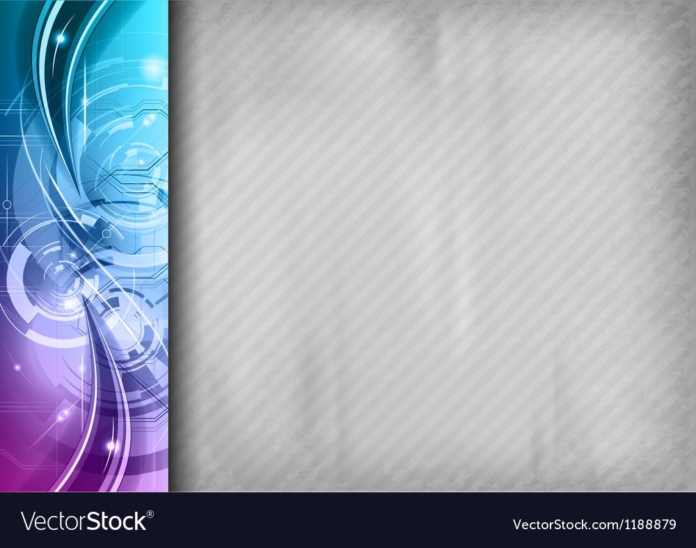 Tech background line left blue vector image