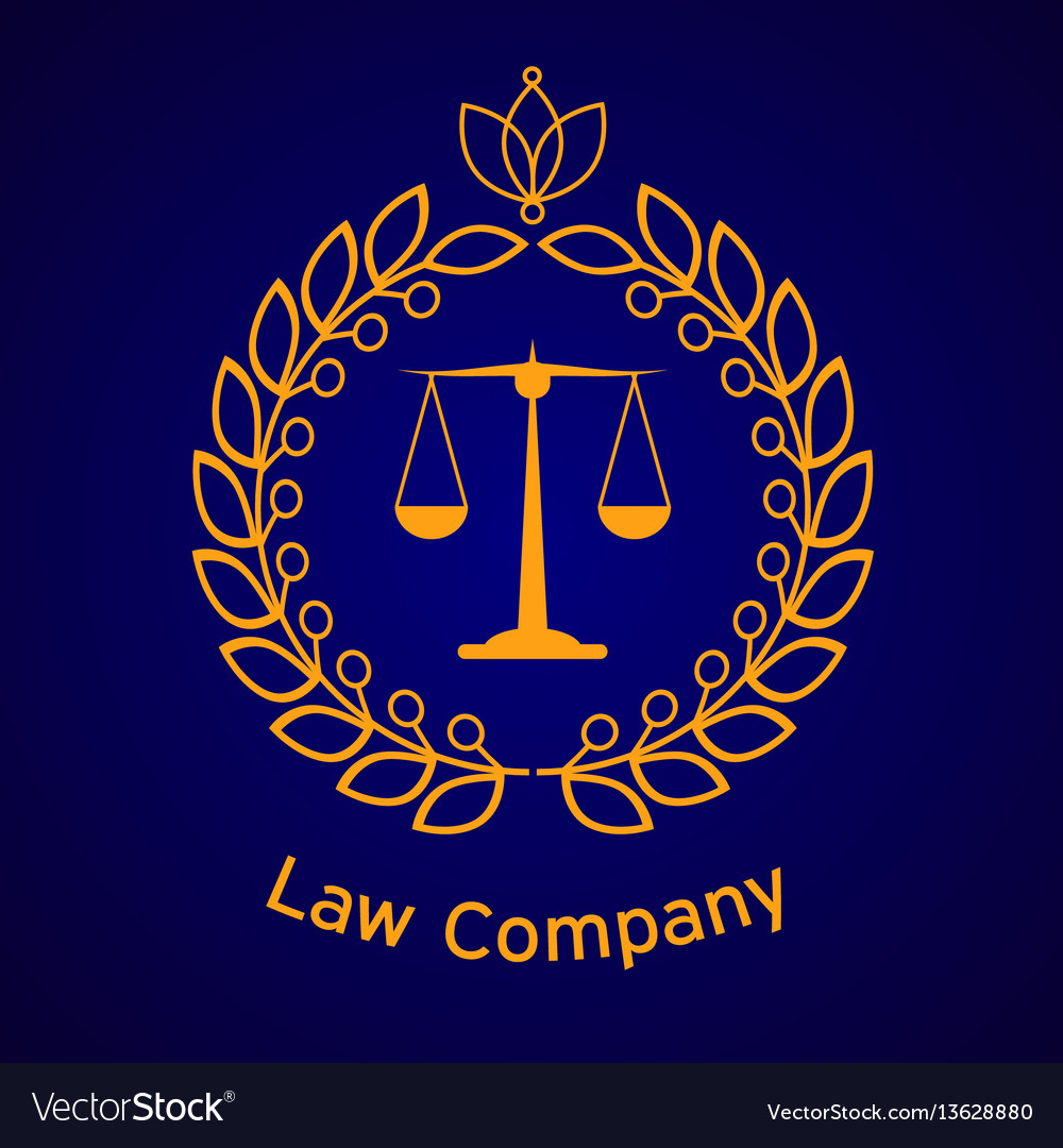 Law firm justice scale vector image