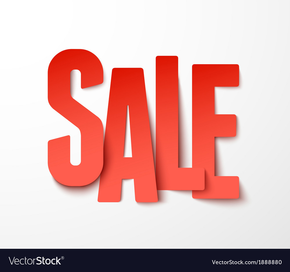 Sale paper vector image