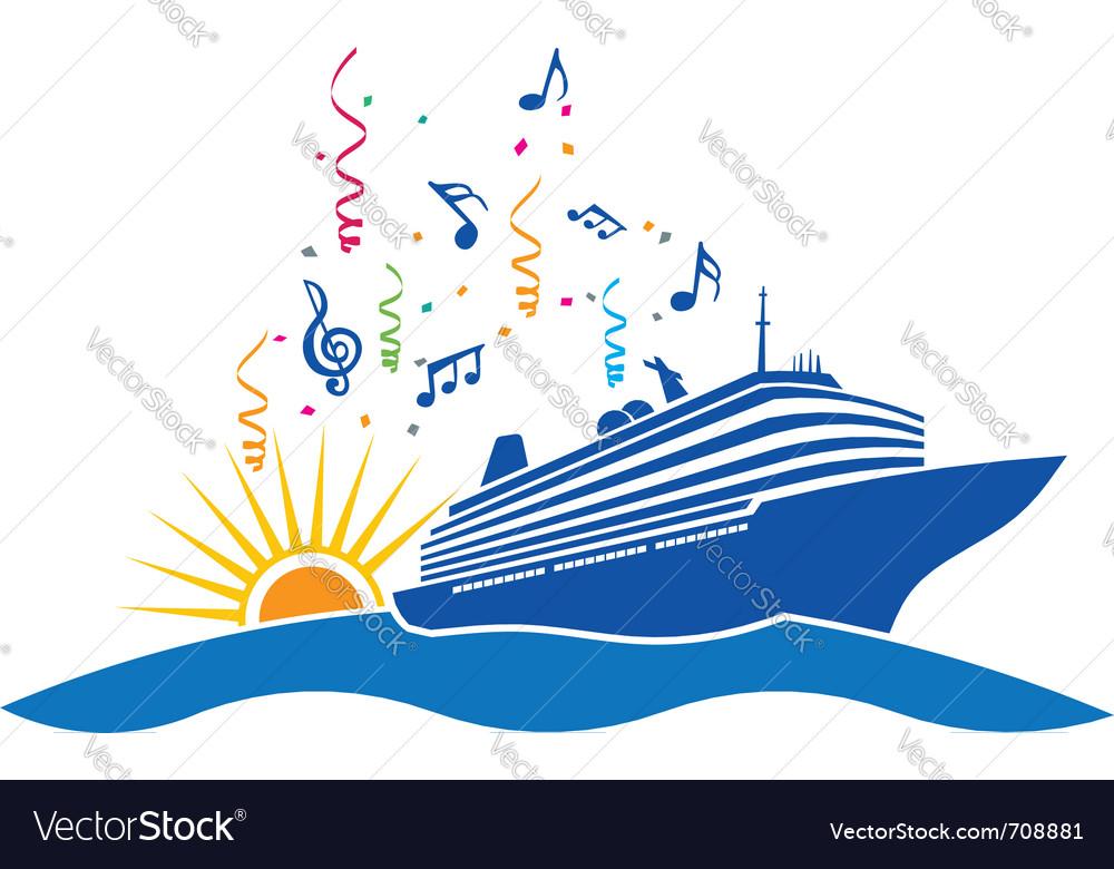 Party Cruise logo vector image