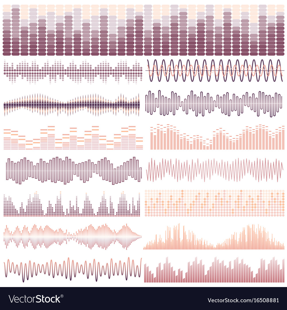 Soundwaves-32 vector image