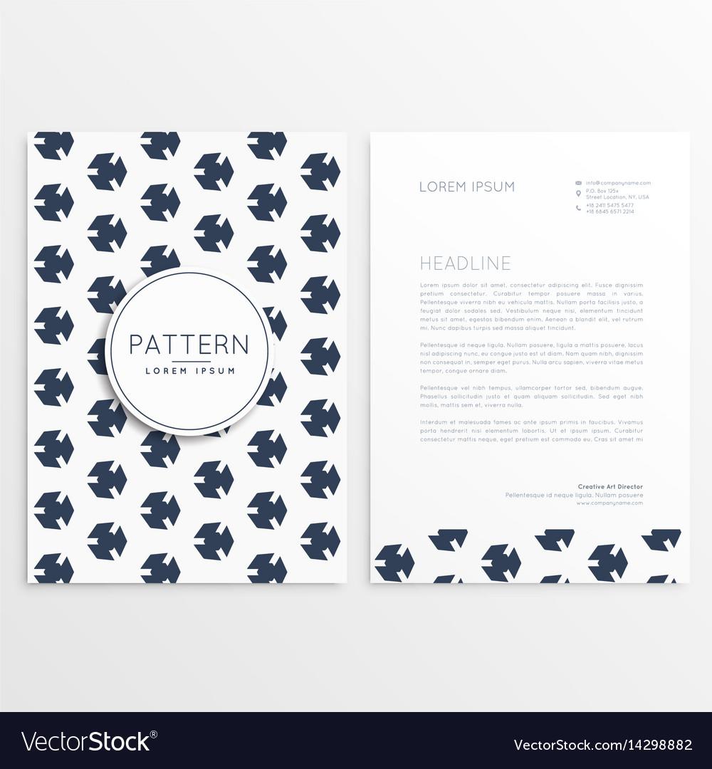 Clean minimal letterhead template design vector image