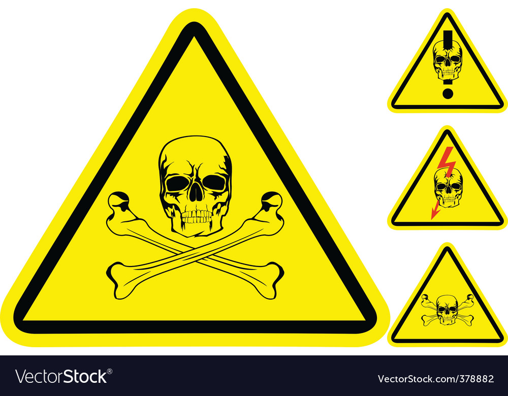 Sign on danger vector image