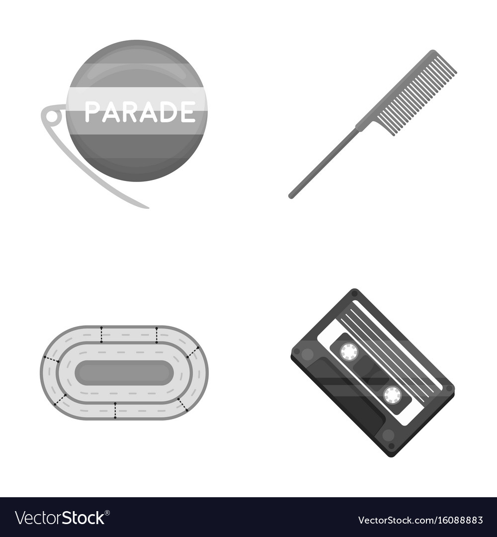 Retro business sport and other monochrome icon vector image