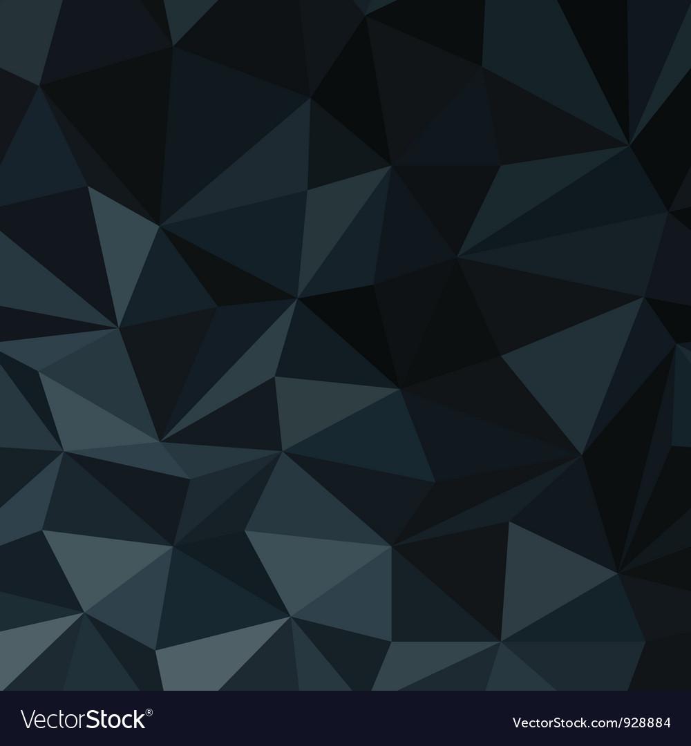 Dark blue abstract diamond pattern vector image