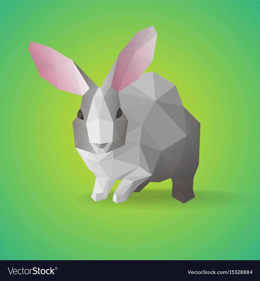 Geometric polygonal farm animal concept vector image