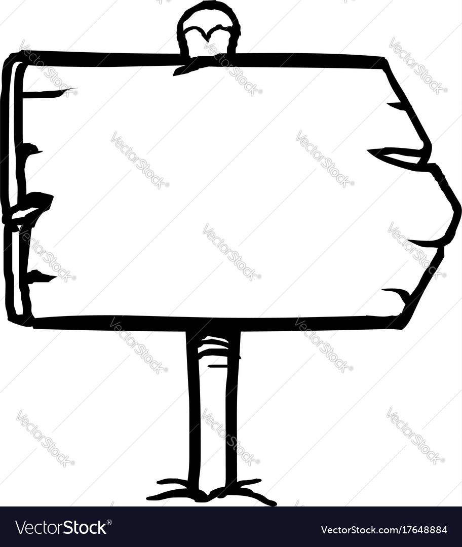 Hand drawn sign vector image