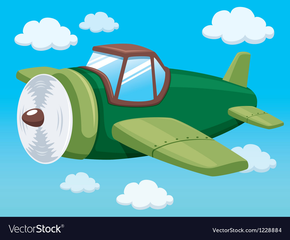 Plane on sky vector image