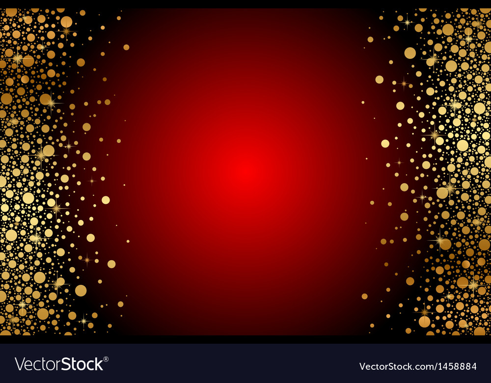 Red and gold luxury frame vector image