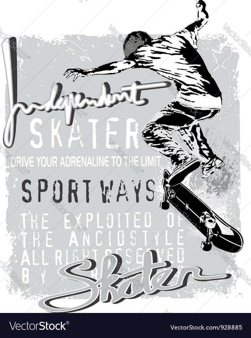 Independent skater vector image